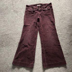 Abercrombie burgundy corduroy pants